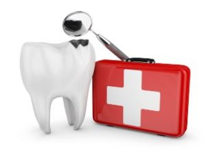 First-aid kit used by an emergency dentist in Beaumont